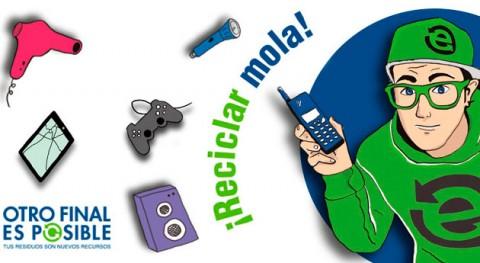 reciclaje electrónico llega alumnos Castilla y León y Castilla - Mancha