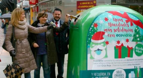 Oviedo impulsa campaña solidaria reciclaje vidrio Navidad