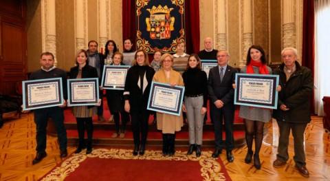 """Premiados ayuntamientos líderes ranking """"Palencia Recicla 2017"""""""