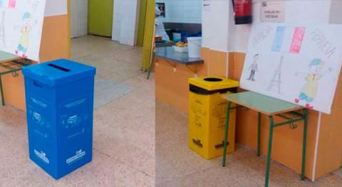 Escorial distribuye 76 papeleras reciclaje colegios municipio
