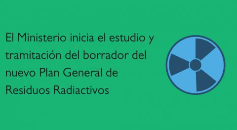 MITECO inicia estudio y tramitación borrador Plan General Residuos Radiactivos