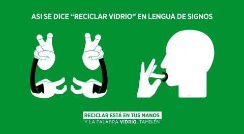 Ecovidrio y CNSE tiñen verde lengua signos