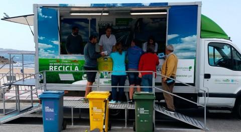 aula móvil reciclaje pone rumbo Pobra do Caramiñal