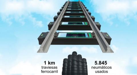 ¿Sabías que se pueden fabricar vías tren partir neumáticos reciclados?