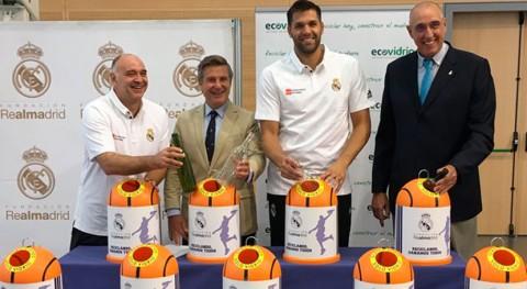 Ecovidrio y Fundación Real Madrid colaboran promoción reciclaje vidrio