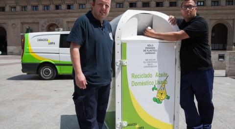 Zaragoza contará más 150 nuevos contenedores aceite