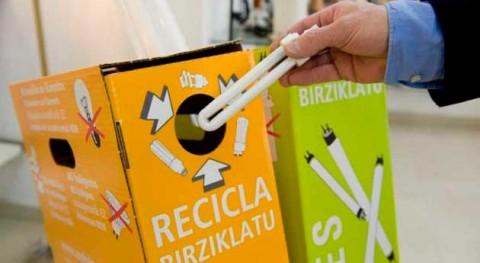 vecinos Yebes y Valdeluz reciclan 144 kilos fluorescentes y bombillas usadas