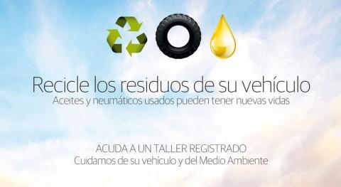 marcha campaña pionera reciclaje residuos automoción Navarra