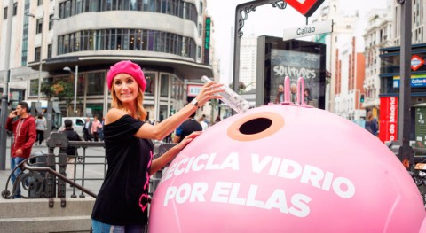 Ecovidrio presenta campaña 'Recicla vidrio ellas' Día Mundial Cáncer Mama