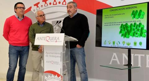 recogida envases, vidrios y papel reciclaje 2016 creció 3% Antequera