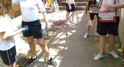 recogida colillas, prioridad proyecto ambiental colegio Divina Pastora Ourense
