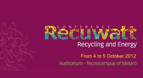 Presentado rueda prensa II Congreso RECUWATT (Reciclaje y Energía) valorización energética residuos