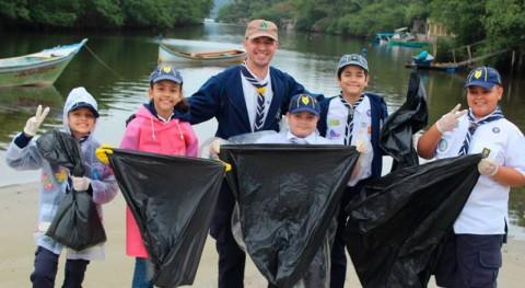 Scouts América Latina y Caribe se unen esfuerzos globales Mares Limpios