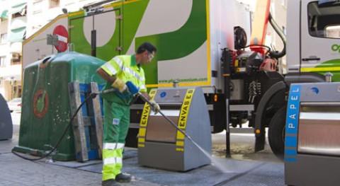 Pinto limpia contenedores soterrados primera vez 2008