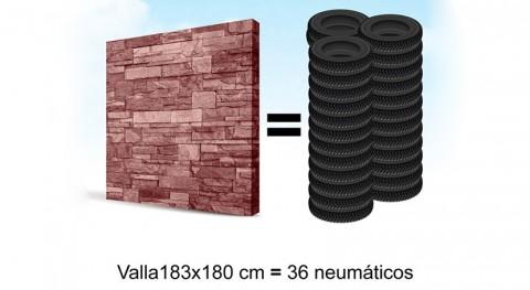 ¿Sabías que se pueden fabricar eco-vallas neumáticos usados?