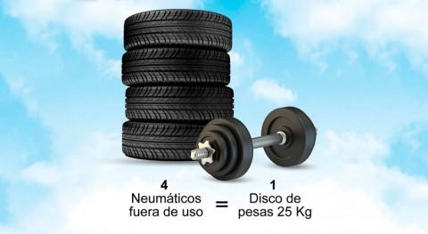 ¿Cómo fabricar discos pesas olímpicos caucho reciclado Neumáticos Usados?
