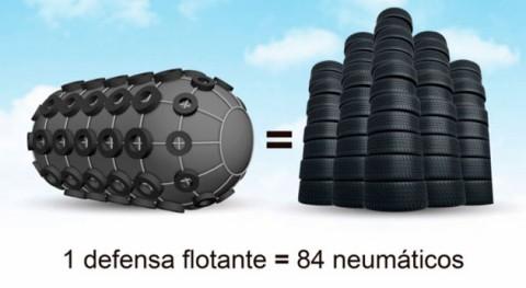 ¿Sabías que... se utilizan neumáticos usados defensas flotantes?