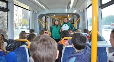 ' tranvía vidrio' sensibiliza escolares y ciudadanos importancia reciclar envases vidrio