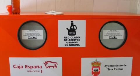 Tres Cantos facilita reciclaje aceite doméstico vecinos