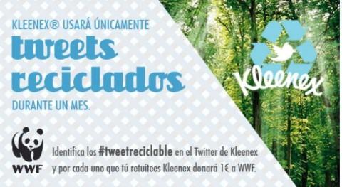 WWF y Kleenex apuestan reciclaje Twitter