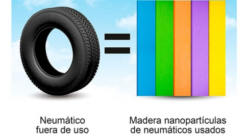 innovadora tecnología convierte neumáticos usados producto reemplazo madera