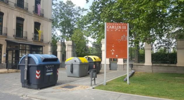 Getafe apoya Universidad Carlos III implantando servicio recogida envases ligeros