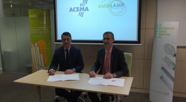 AMBILAMP suscribe contrato colaboración ACEMA
