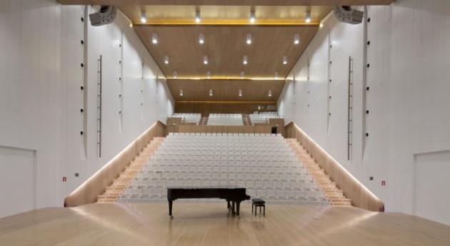 Ciudad Música Navarra suscribe convenio asociación Ambilamp recogida selectiva residuos lámparas