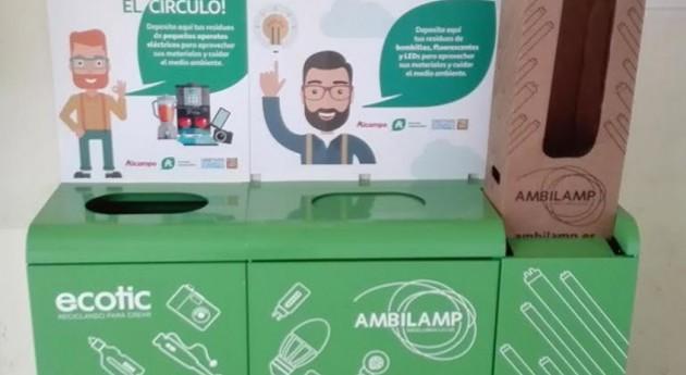 supermercados Auchan ya cuentan contenedores recogida RAEE