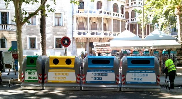 30% contenedores residuos Palma Mallorca están controlados vía satélite
