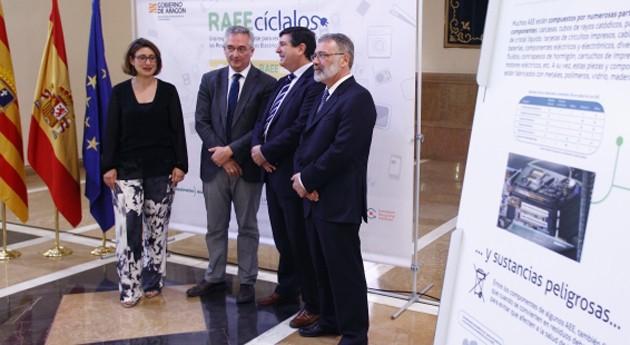 Reciclar más y mejor aparatos eléctricos y electrónicos, objetivo exposición Aragón
