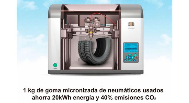 ¿Sabías que... se puede imprimir 3D partir neumáticos usados?