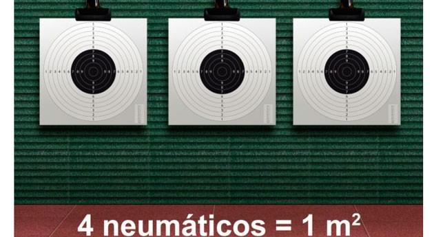 neumáticos usados placas caucho compactado galerías tiro: Seguridad ecológica