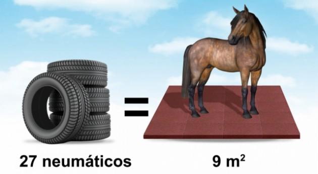 ¿Sabías que neumáticos usados pueden convertirse losetas establos?