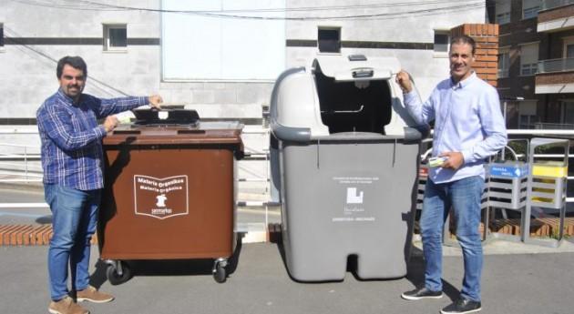 Urnieta fomenta reciclaje cerradura electrónica y apertura limitada contenedores