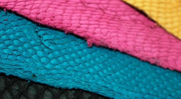 Piel pescado, materia prima fabricar zapatos, carteras y cinturones