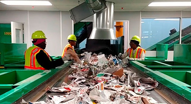 marcha nueva Planta Reciclaje Materiales Dallas, operada FCC