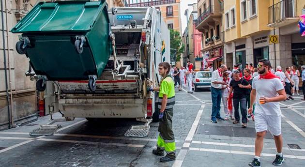Llega San Fermín: Casco Antiguo Pamplona contará nuevo recogida selectiva residuos