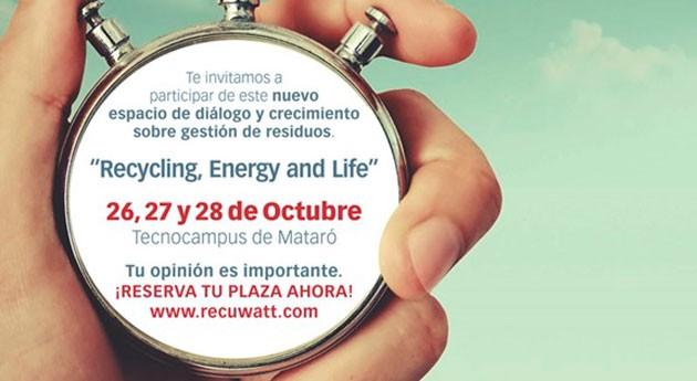 RECUWATT 2016 buscará respuestas retos gestión integrada residuos España