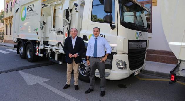 Málaga renueva flota vehículos mejorar recogida residuos 91 municipios