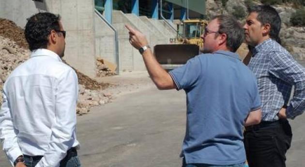 Javier Antón visita nueva planta tratamiento RCD's Golmayo, Soria