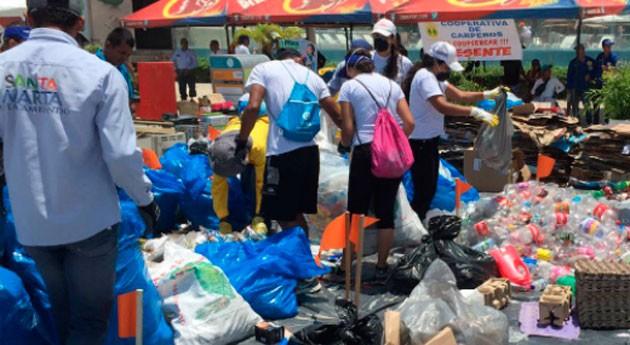 Más 5 toneladas residuos se recogieron playas colombianas Rodadero