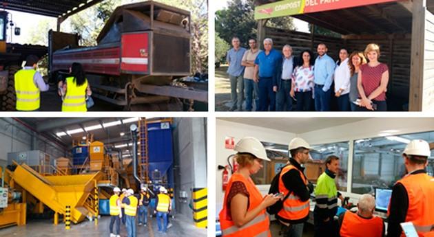 delegación PNUD y autoridades Líbano visitan instalaciones residuos Cataluña