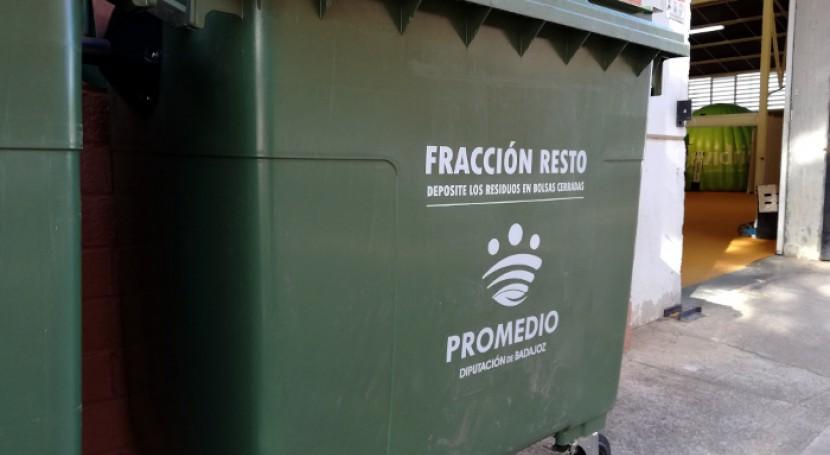 Fuente Maestre confía Promedio recogida y transporte residuos urbanos