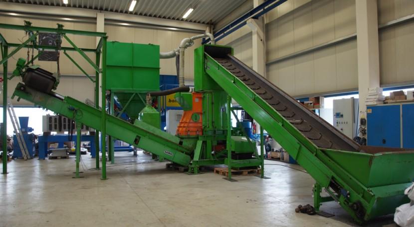 Planta reciclaje Bomatic, disposición realización pruebas