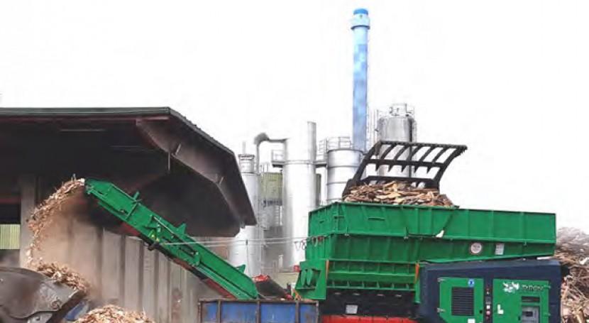 Trituración 60.000 toneladas al año madera