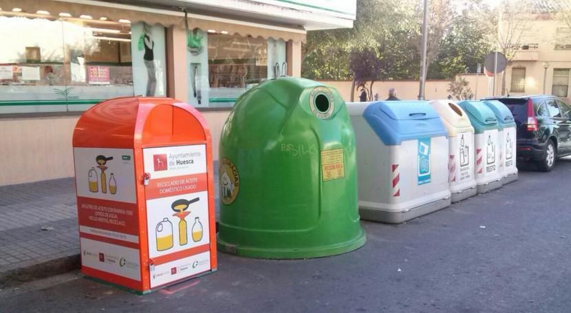 Huesca recoge dos meses 2.560 litros aceite usado