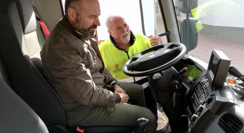 Promedio incorpora nuevo camión recolector control pesaje cubrir Aceuchal