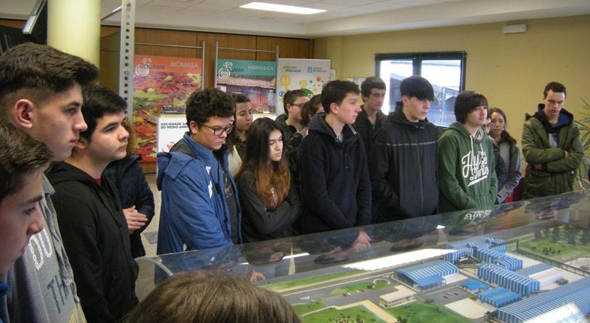 Alumnos instituto Ponteces visitan complejo medioambiental Sogama