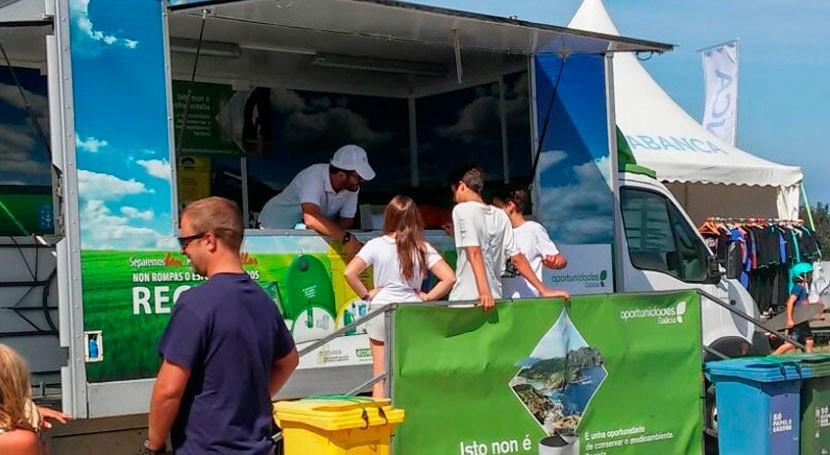 aula móvil reciclaje llega esta semana Caldas Reis, Barreiros, Pontedeume y Fene